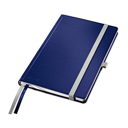 Leitz 44860069 Notizbuch Style Notizbuch Style, fester Einband, A5, kariert, titanblau