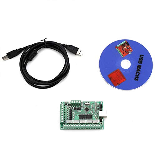 MACH3 Interface Board, USB Interface Board, Strong Anti-Interference Ability 4 Output Port Analog Voltage Output for MACH3 software Windows Systems