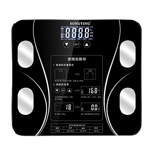 ShiSyan Contact Button Bathroom Weight Scale LCD Smart Body Balance Electronic Scales Clever Bmi Body Scale