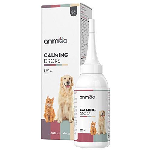 Animigo Calming Drops - Natürliche Beruhigungsmittel für Hunde & Katzen - Beruhigungstropfen bei Aufregung, Nervosität & Angst - Sorgt für innere Ruhe & Entspannung - 100ml Tropfen