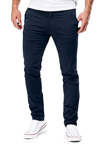 MERISH Chino Hosen Herren Slim Fit Jogger Hose Stretch Neu 401 (36-30, 401 Dunkelblau)