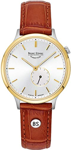 Bruno Söhnle Damen Analog Quarz Uhr mit Leder-Kalbsleder Armband 17-23213-241