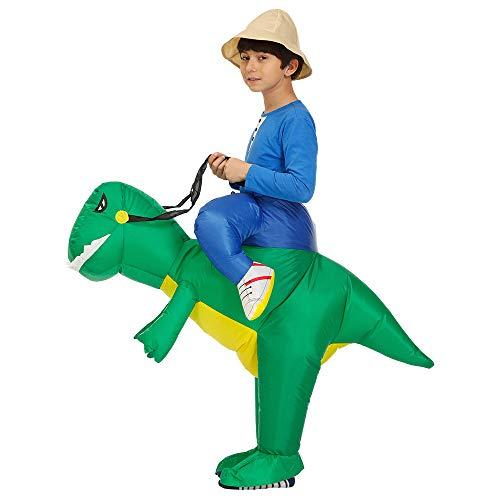 Pumpumly Niños Inflable Paseo en Dinosaurio Disfraz Cosplay T-REX Ropa Halloween Mujeres...