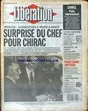 LIBERATION [No 1861] du 15/05/1987 - CANNES - PIALAT - L'INSEE ASSOMME BALLADUR -...