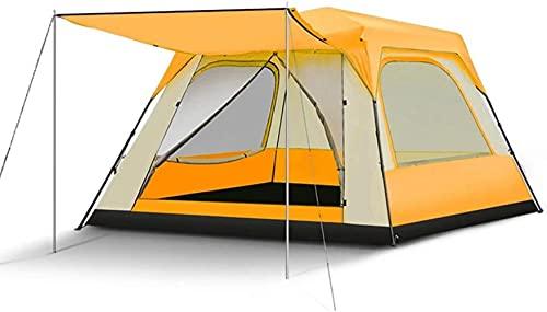 WXHHH Campingzelte, großes automatisches Pop-up-Campingzelt  Platz für 5-8 Personen Wasserdichtes Zelt  4 Jahreszeiten Regen tragbares zusammenklappbares quadratisches Familienzelt
