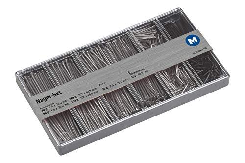 Metafranc Nagel-Sortiment 10-teilig + 380 g - Drahtstifte & Kammzwecken im Set - Vorsortiert in praktischer Kunststoffbox - Geeignet für Haus, Werkstatt & Co. / Nagel-Set / Sortimentskasten / 947100