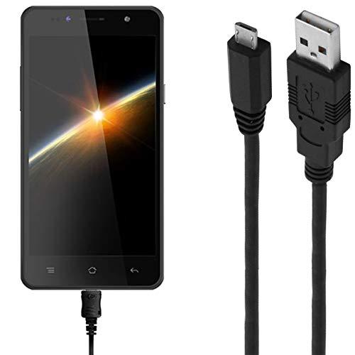 ASSMANN Ladekabel/Datenkabel kompatibel für Siswoo C50 - schwarz - 1m