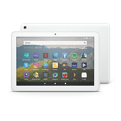 Das neue Fire HD 8-Tablet, 8-Zoll-HD-Display, 32 GB, Weiß mit Spezialangeboten, für Unterhaltung unterwegs
