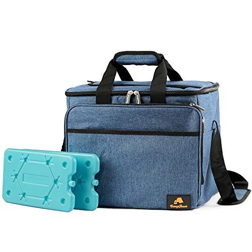 CampFeuer Kühltasche 30 Liter, leicht und wasserdicht, Isoliertasche für BBQ, Camping, Strand, Einkauf, Arbeit (blau)