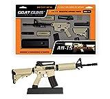 GoatGuns Miniature AR15 Toy Model FDE (Flat Dark Earth, Tan) | 1:3 Scale Die Cast Metal Build Kit