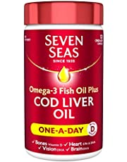 Seven Seas Cod Liver Oil one-a-Day Fish Oil Omega-3 and Vitamin D, 120 Capsules Supplements