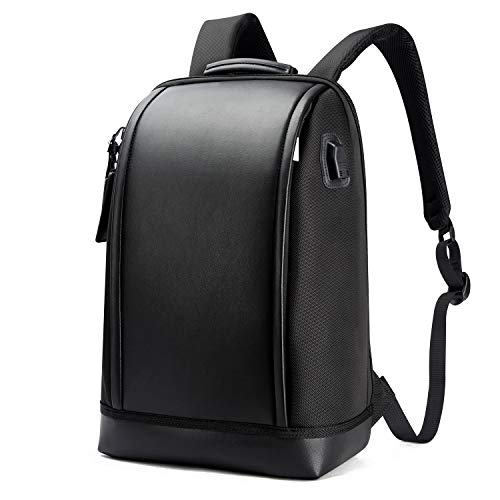 BOPAI Business 15.6 inch Laptop Backpack Invisible Water Bottle Pocket Anti-Theft Laptop Rucksack USB Charging Port and Anti-Explosion Zipper Water Resistant Travel Anti-Thief Men Backpack, Black