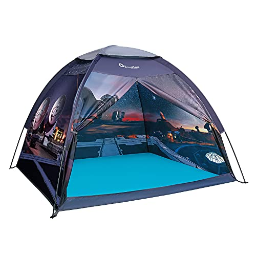 Kids Play Tent, Exqline Indoor Large Space Theme Play Tent Playhouse with Professional Aviation Aluminum Pole for Boys Girls Indoor and Outdoor Playing and Camping, Gift for Kids - 60 x 60 x 53inch