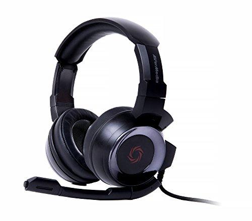 Fone de ouvido para jogos AVerMedia SonicWave 3,5 mm para PC, Xbox One, PS4, Nintendo Switch (GH335), Fone de ouvido para jogos, Preto, 3.5mm