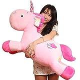 Missley Unicorn Emoticon Cuscino Peluche Bambola Giocattolo Peluche Divano Letto Decor Perfect Unicorn Gift (Pink, 20in/50CM)