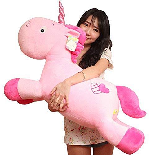 Missley Unicorn Emoticon Cuscino Peluche Bambola Giocattolo Peluche Divano Letto Decor Perfect Unicorn Gift (Pink, 31.49in/80CM)