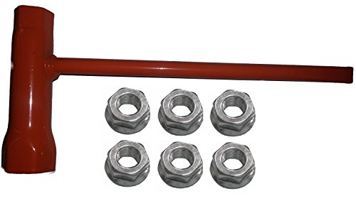 Forester Chain Saw Wrench (Scrench) 13mm by 19mm Plus 6 Flanged Bar Nuts Replaces Husqvarna 7 Piece Bundle