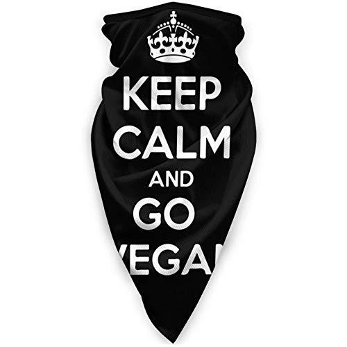 shenguang Keep Calm and Go Vegan Headband Face Cover Bandana Head Wrap Bufanda Calentador de Cuello Headwear Pasamontañas para Deportes
