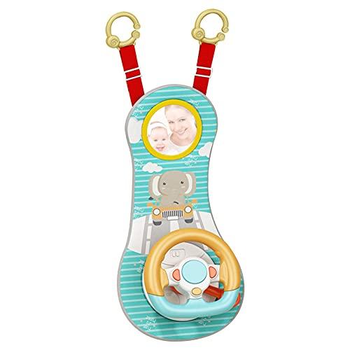 Rueda de coche Juguetes para bebés – Centro de juegos de actividades musicales Juguete compañero de viaje del bebé Entretener y relajarse más fácil de conducir con sonidos y luces para el bebé