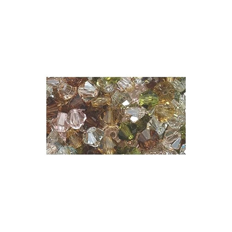 Preciosa 4-Mm Czech Crystal Diamond/Bicone Bead, Vintage Rose Mix, 144-Piece