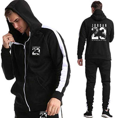 Chicago Bulls Jordan Bedruckte Jogging Anzug Trainingsanzug Sportanzug Sweatjacke, Zipper Hoodie Herren Jogginghose Sportbekleidung