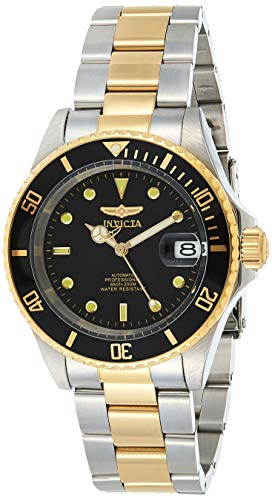 Invicta Men's Pro Diver 40mm Steel and Gold Tone Stainless Steel Automatic Watch...