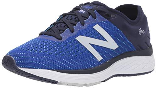 New Balance Kid's 860 V10 Running Shoe, Pigment/Uv Blue/Bayside, 5 M US Big Kid