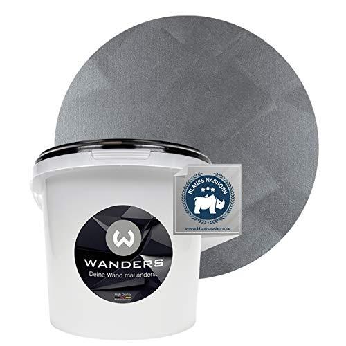 Wanders24® Tafelfarbe Metallic-Grau (3 Liter) Blackboard Paint - Tafellack - abwischbare Wandfarbe - in 5 Farbtönen erhältlich - Made in Germany