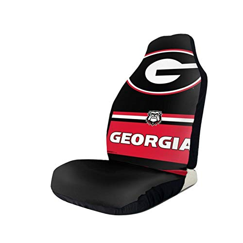 Car Seat Covers Georgia Football Bulldog Pattern Protector Interior Accessories Integrated Auto Seat Cover for Car Truck Van and SUV
