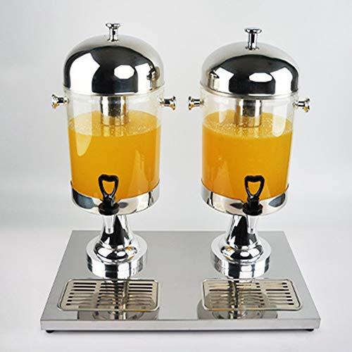 Dispensadores de agua fría y fuentes Acero inoxidable buffet Bebidas máquina de zumo bebida Ding doble grifo de Dispensadores de Bebidas Carbonatadas hotel Restaurante Buffet barril de leche Chillers