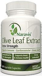 powerful Olive Leaf Extract Narabis – 750 mg – 120 Vegetable Capsules – 20% Oleuropein – GMO Free – Immunity…