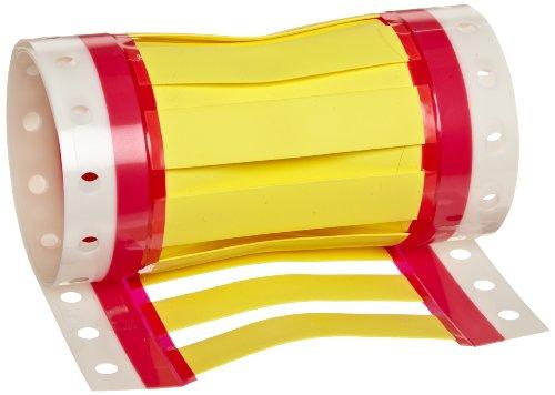 Hellermann Tyton WM-4Y-25 Yellow ShrinkTrak Shrink Tag Wire Markers, 1/2' Min (Pack of 25)