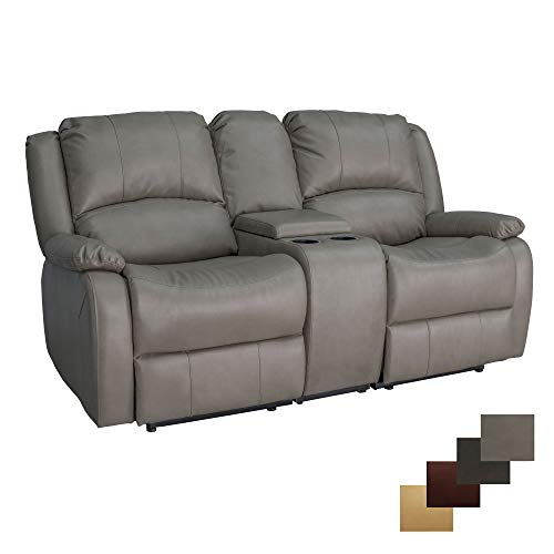 RecPro Charles Collection | 70' Double Recliner RV Sofa & Console | RV Zero Wall Loveseat | Wall Hugger Recliner | RV Theater Seating | RV Furniture | RV Living Room (Slideout) Furniture | Putty