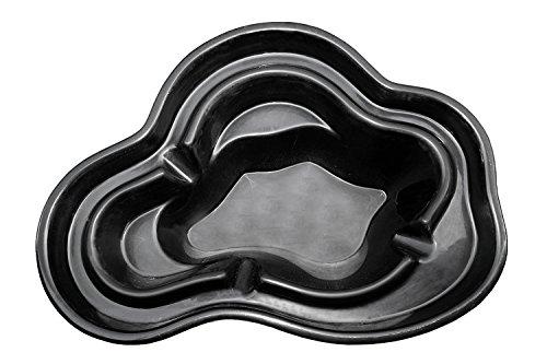 B&M Polypool GFK - Estanque de jardín (1340 L, 265 x 190 x 85 cm), Negro