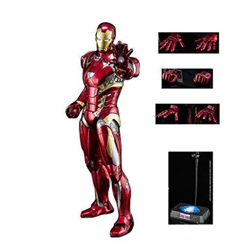 Q Marvel toy Iron Man M46, Modelo de Traje de aleación de 24 cm, brillará, Juntas Ajustables