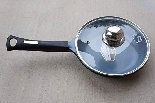 Fry pan with Lid, Non-stick German Weilburger Greblon Ceramic, 8-Inches (20cm)