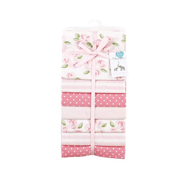 Little Treasure Unisex Baby Cotton Flannel Receiving Blankets, Beyoutiful 7-Pack, One Size