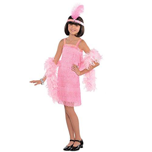 Generique - Charleston Kostüm für Kinder rosa 116/128 (6-8 Jahre)