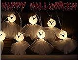 Shanke Fantasma Blanco para Halloween Cadera Luces Decoración para Halloween, Fiesta, Festival, Party 20 Pumpkin 3.5M, Lamp Jack-o'-Lantern Lights Decoración de Halloween para Exterior e Interior