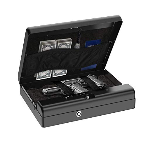 N \ A Caja Fuerte biométrica para Pistola, Caja Fuerte para 2 Pistolas, Caja de Seguridad para Pistola de Acceso rápido, Caja de Seguridad portátil, Caja de Seguridad para Pistola de Mano Inteligente