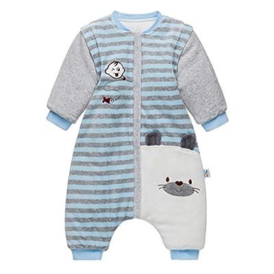 Sacos de Dormir para Bebés 3.5 Tog - Mantas para Niño Mangas Extraíbles Rayas Diseño