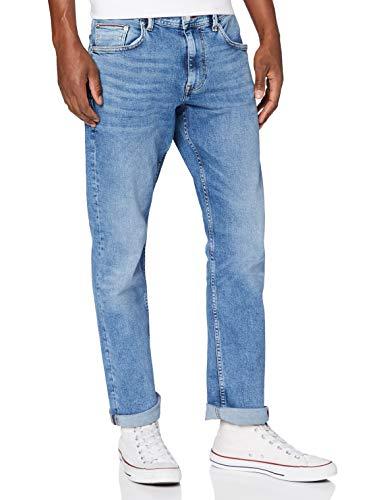 Tommy Hilfiger Hombre Regular Mercer Str Atoka Blue Pantalones, Azul (Atoka Blue), W32 / L36