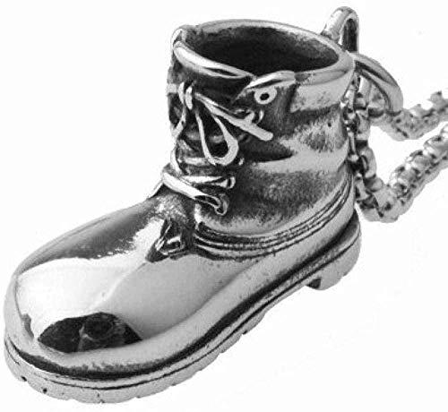 NONGYEYH co.,ltd Collar Pend de Acero Inoxidable Accesorios para Zapatos Deportivos Accesorios para Zapatos para Correr de Acero de Titanio Regalos para Parejas de Fiesta