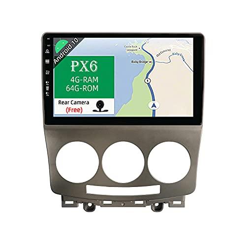 JOYX PX6 Android 10 Autoradio Passt für Mazda 5 (2005-2010) - [4G+64G] - Rückfahrkamera KOSTENLOS - 2 Din - IPS 9 Zoll - Unterstützen DAB Lenkradsteuerung 4G WiFi Bluetooth4.0 Carplay Google HDMI AHD