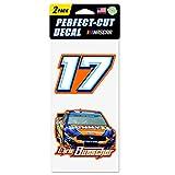 WinCraft NASCAR Roush Fenway Racing Chris Buescher NASCAR Chris Buescher #17 Set of Two 4'x4' Perfect Cut Decal, Multi, na