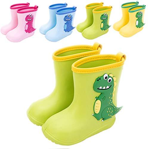 Botas de Agua Niña Niño Impermeable y Antideslizante Botas para Lluvia 20/21 Verde