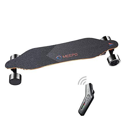 Tony Hawk Meepo Elektrisches Skateboard-Zubehör, 540 W Motor Dual Drive High Speed Scooter, kabellose Fernbedienung, für Erwachsene, 9,7 cm, 22,9 cm, 14,8 cm, Schwarz