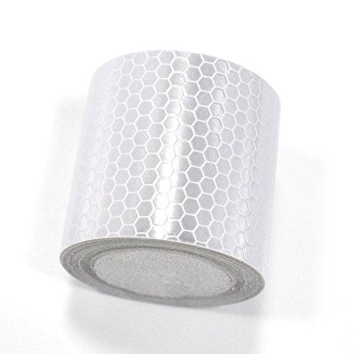 Muchkey Reflektierendes Klebeband, hohe Intensität, weiß, 4cm x 5m
