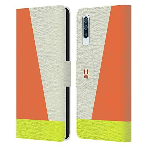 Head Hülle Designs Elfenbein Farbblock Pfeile Leder Brieftaschen Huelle kompatibel mit Samsung Galaxy A50/A30s (2019)