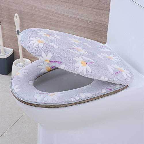 Toiletzitting 1 stks Super Zacht Fluweel Bikini Toilet Pad Seat Cover Dikke Warm Fair Wasbaar Twin Set Plakken Rits Toilet Stoel Kussen WC-stoelen 1 exemplaar